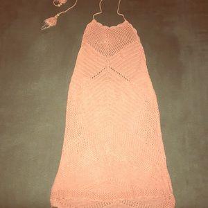 Dresses & Skirts - Crochet peach cover up